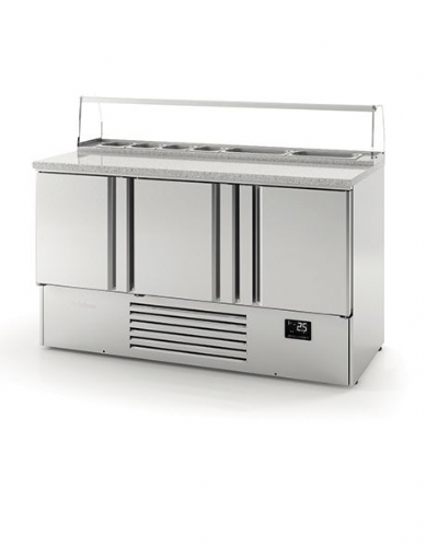 Infrico Compact Gastronorm Counter with granite worktop - ME1003PIZZA